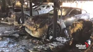 Fire at Florida home leaves five high-end luxury cars destroyed