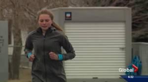 Alberta runner reeling in attention
