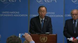 Ban-ki Moon describes his 'outrage' at 'despicable' attack on French newspaper