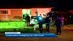 Toronto Police are investigating Toronto's 20th murder of the year