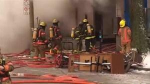 130 firefighters take on St. Denis street fire