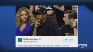 Did Beyonce give basketball fan side eye?