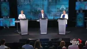 3 main Ontario party leaders trade jabs in final debate, on campaign trail