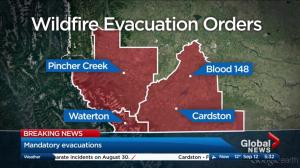 Local states of emergency declared over Waterton wildfire