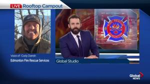 Edmonton Firefighters' extend Rooftop Campout to raise money