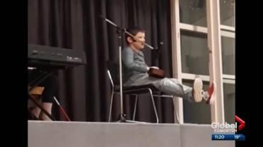 Edmonton boy with autism, visual impairment blows classmates away