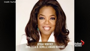 Morgan Freeman announces Oprah Winfrey will receive Golden Globe Cecil B. DeMille Award