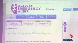 Alberta's Emergency Alert System under scrutiny