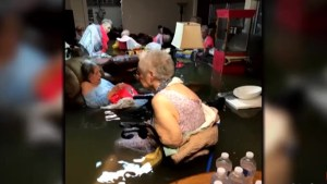 Hurricane Harvey leaves seniors stranded in waist-deep water at nursing home