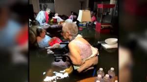 Hurricane Harvey leaves seniors stranded in waist-deep water at nursing home