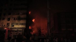 At least 74 injured in massive hotel fire in downtown Cairo