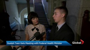 Guelph teen meets with federal Health Minister, calls for action on mental illness