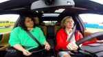 Jeff and Carolyn test out their driving skills on Road Safety Week