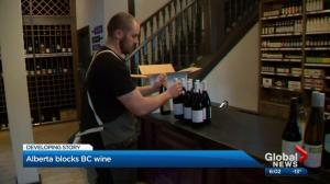 Alberta puts a cork in BC wine shipments