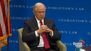 Jeff Sessions says Trump using his own 1st amendment rights in blasting NFL players