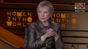 Clinton says she's 'deeply concern' about Russian meddling