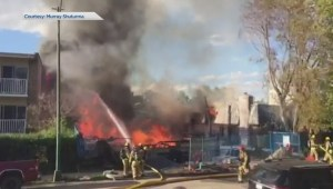 Crews battle large fire at construction site in southwest Calgary