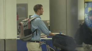 US swimmers Gunnar Bentz and Jack Conger arrive in Miami after testifying in alleged robbery case