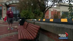 Critics call Calgary Safeway's barrier project 'anti-people' but owners cite customer safety