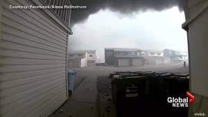 Fort McMurray resident shares security video  moments before home is engulfed in flames