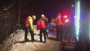 High-angle rope rescue in north Okanagan
