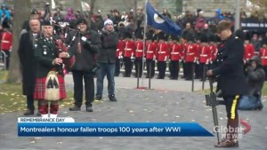 Montrealers honour fallen troops, mark 100th anniversary of First World War