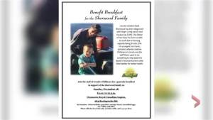 New Brunswick community holds benefit breakfast for cancer-afflicted family