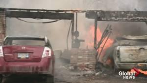 Garage fire in Kelowna