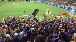 Moving tributes to the Orlando massacre victims at Saturday's Major League Soccer game