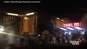Crowds panic, duck for cover as gunshots ring out at Las Vegas country music concert