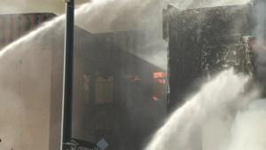 Fire destroys iconic Victoria hotel