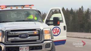 Tow truck operator, driver injured in Moncton highway collision