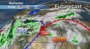 Saskatoon weather outlook: cold front splices the weekend in half
