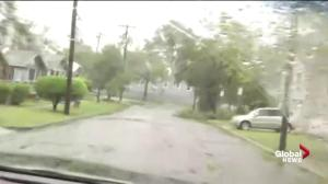 Hurricane Florence: Driving through rain-soaked New Bern, NC