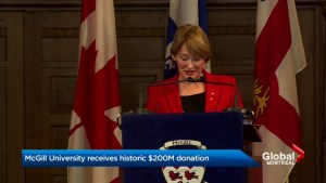 McGill University receives single-largest gift in Canadian history