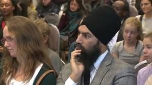 NDP Leader Jagmeet Singh in Montreal