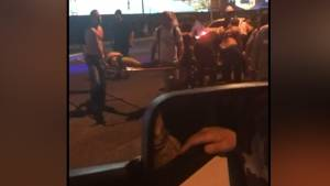 Las Vegas shooting: Victims carried away in wheelbarrows, on security barricades