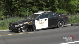 OPP cruiser involved in collision on Hwy. 28 east of Peterborough