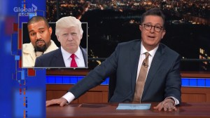 Stephen Colbert Says 'Kanye Has Lost His Mind' Over Trump Tweets
