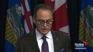 Alberta finance minister gives fiscal update after latest pipeline setback