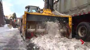 Slow snow removal in Montreal