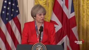 Theresa May says Russian sanctions should continue until Minsk agreement is fully implemented