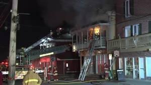 Fire tears through downtown Saint-Raymond-de-Portneuf