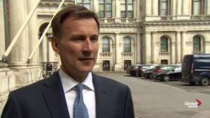 Jeremy Hunt says Iranian supertanker detained 'legally' in Gibralter