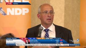 Nova Scotia election: NDP leader Gary Burrill praises party's gains (01:51)