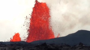 Kilauea volcano fissure vigorously erupts in Hawaii