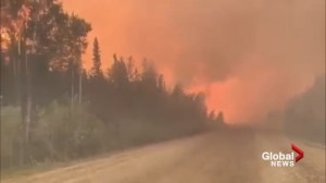 Intensity of huge B.C. wildfire caught on camera