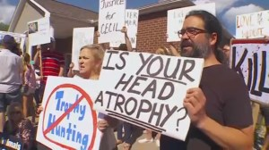 Protesters call for Walter Palmer's extradition over death of Cecil the lion