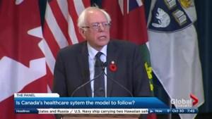 Bernie Sanders praises Canada's healthcare system