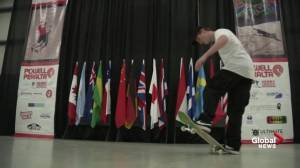 World skateboarding competition brings international freestyle skaters to Cloverdale Rodeo
